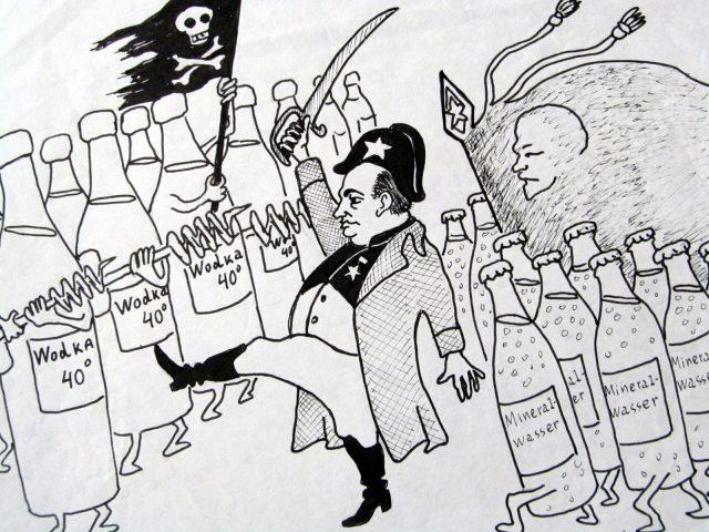Caricature par Alexandre Zinoviev